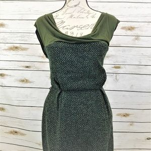 Anthropologie Eva Franco Green Tweed Dress